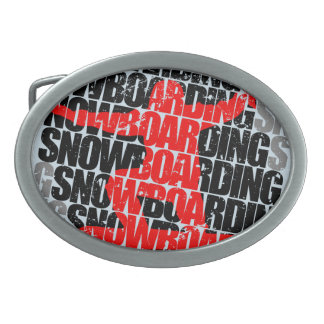Snowboarding #1 (blk) belt buckle