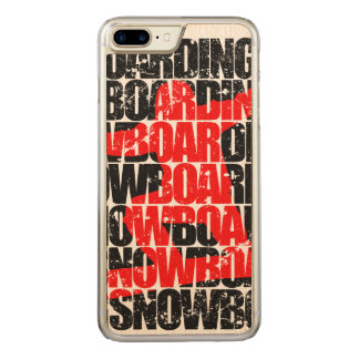 Snowboarding #1 (blk) carved iPhone 7 plus case