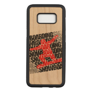 Snowboarding #1 (blk) carved samsung galaxy s8 case