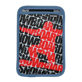 Snowboarding #1 (blk) iPad mini sleeve