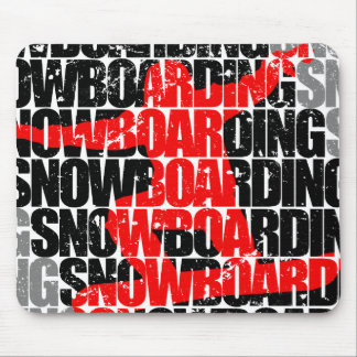 Snowboarding #1 (blk) mouse pad