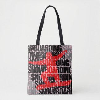 Snowboarding #1 (blk) tote bag