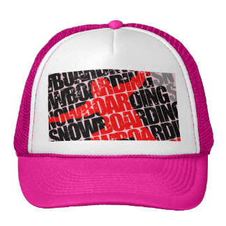 Snowboarding #1 (blk) trucker hat