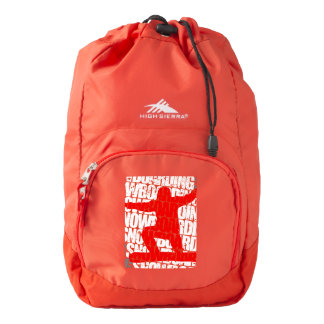 Snowboarding #1 (wht) backpack