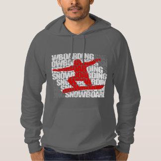 Snowboarding #1 (wht) hoodie