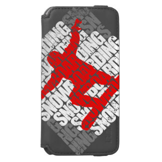 Snowboarding #1 (wht) incipio watson™ iPhone 6 wallet case