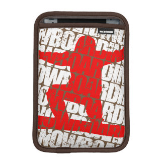 Snowboarding #1 (wht) iPad mini sleeve