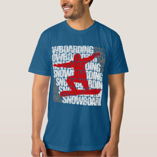 Snowboarding #1 (wht) T-Shirt
