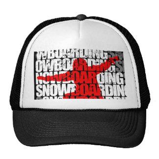Snowboarding #1 (wht) trucker hat