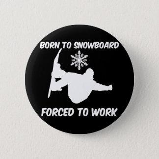 Snowboarding 2 Inch Round Button
