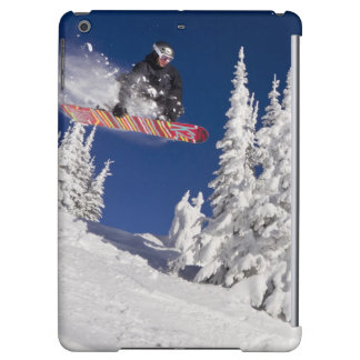 Snowboarding action at Whitefish Mountain Resort iPad Air Covers