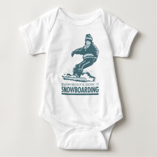 Snowboarding Baby Bodysuit