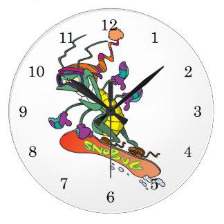 Snowboarding bug large clock