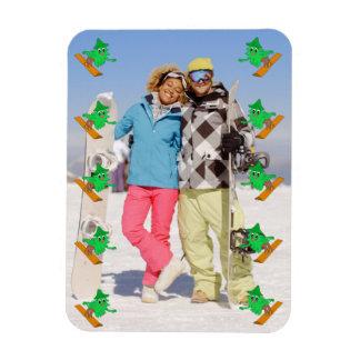 Snowboarding Christmas Tree Magnet