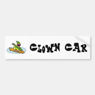 Snowboarding Clown Bumper Sticker