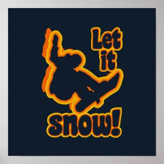 Snowboarding custom poster