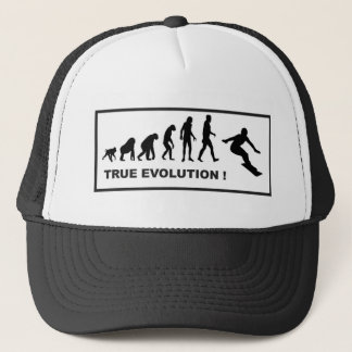 snowboarding evolution trucker hat
