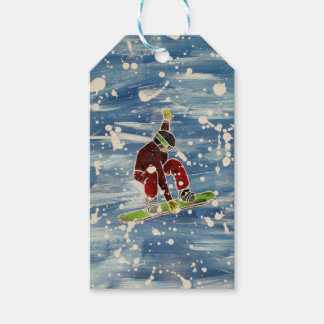 Snowboarding gift tag