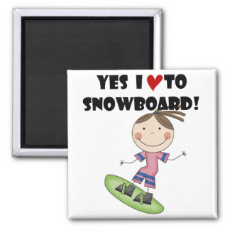 Snowboarding Girl Tshirts and Gifts Magnet