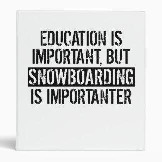 Snowboarding Is Importanter 3 Ring Binder