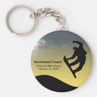 Snowboarding Keychain