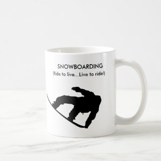 snowboarding mug! coffee mug