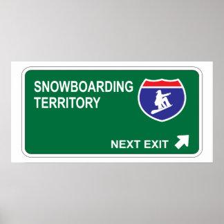 Snowboarding Next Exit Poster