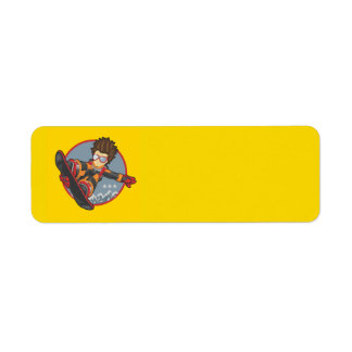 Snowboarding Return Address Label