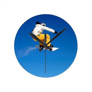Snowboarding Round Clock