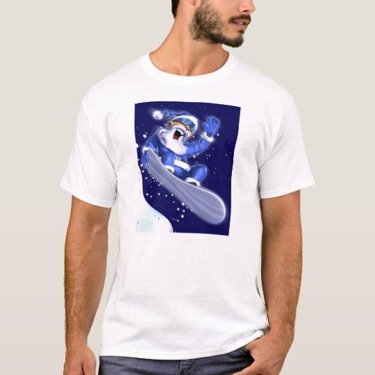 Snowboarding Santa T-Shirt