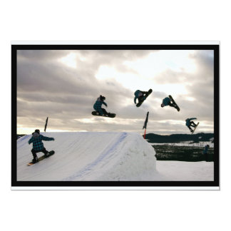 Snowboarding Tricks Invitation