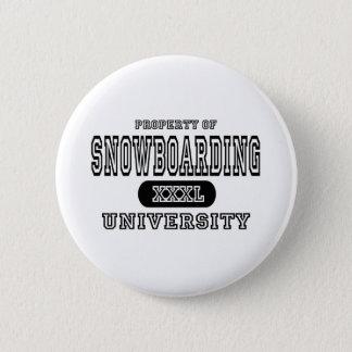 Snowboarding University 2 Inch Round Button