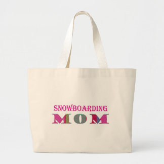 SnowboardingMom Large Tote Bag
