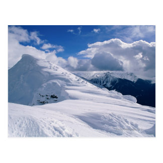 Snowcapped mountain postcard