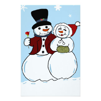 Snowcouple Personalized Stationery