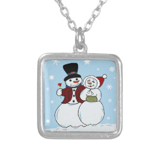 Snowcouple Silver Plated Necklace