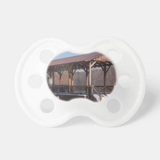 Snowcovered Hawley Train Station Pacifiers