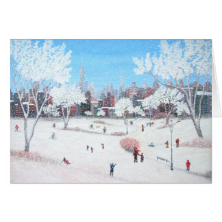 Snowday Greeting Card by Rino Li Causi