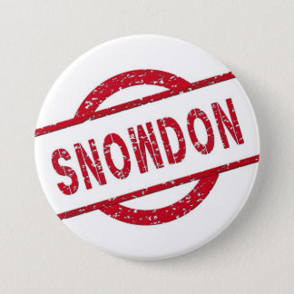 Snowden Supporter 3 Inch Round Button