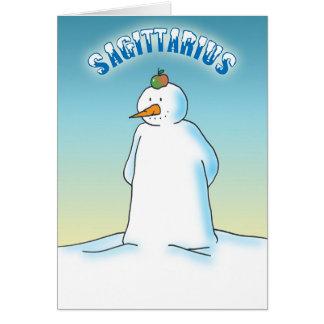 Snowdiac - Sagittarius Card