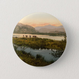 Snowdon from Glaslyn, Gwynedd, Wales 2 Inch Round Button