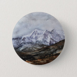 Snowdon Horseshoe in Winter.JPG 2 Inch Round Button