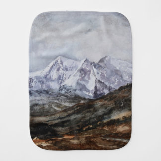 Snowdon Horseshoe in Winter.JPG Burp Cloth