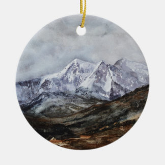 Snowdon Horseshoe in Winter.JPG Ceramic Ornament
