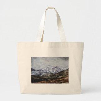 Snowdon Horseshoe in Winter.JPG Large Tote Bag