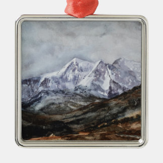 Snowdon Horseshoe in Winter.JPG Metal Ornament