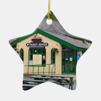 Snowdon Mountain Railway Station, Llanberis, Wales Ceramic Ornament