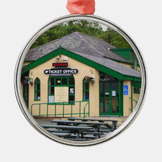 Snowdon Mountain Railway Station, Llanberis, Wales Metal Ornament