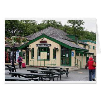 Snowdon Mountain Railway station, Wales, UK Card