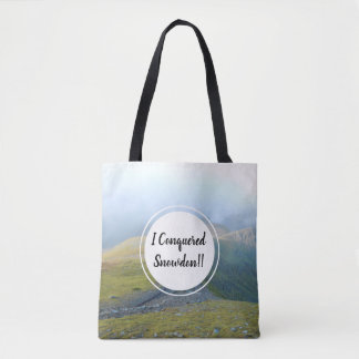 Snowdonia Wales View and Welsh Mountain Railway Tote Bag